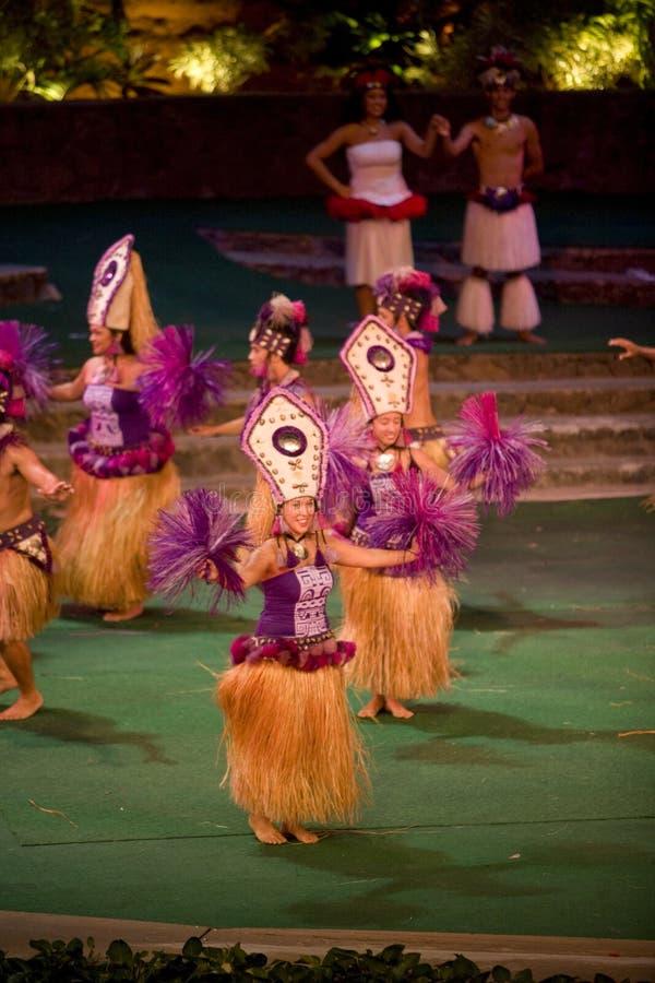 tahitian的舞蹈演员 图库摄影