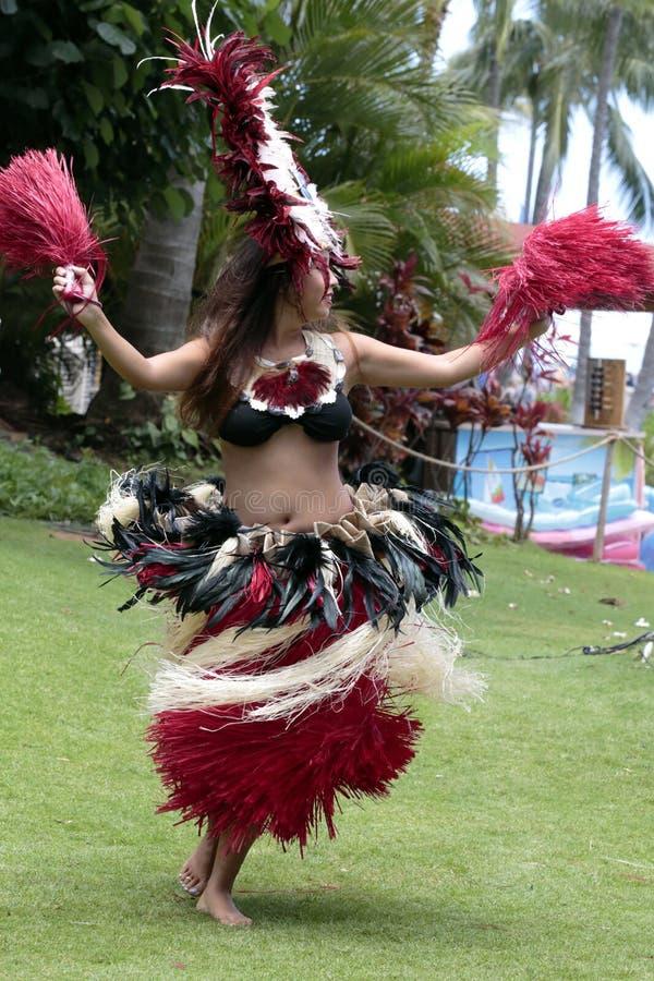 Tahitian芭蕾舞女演员 免版税库存照片