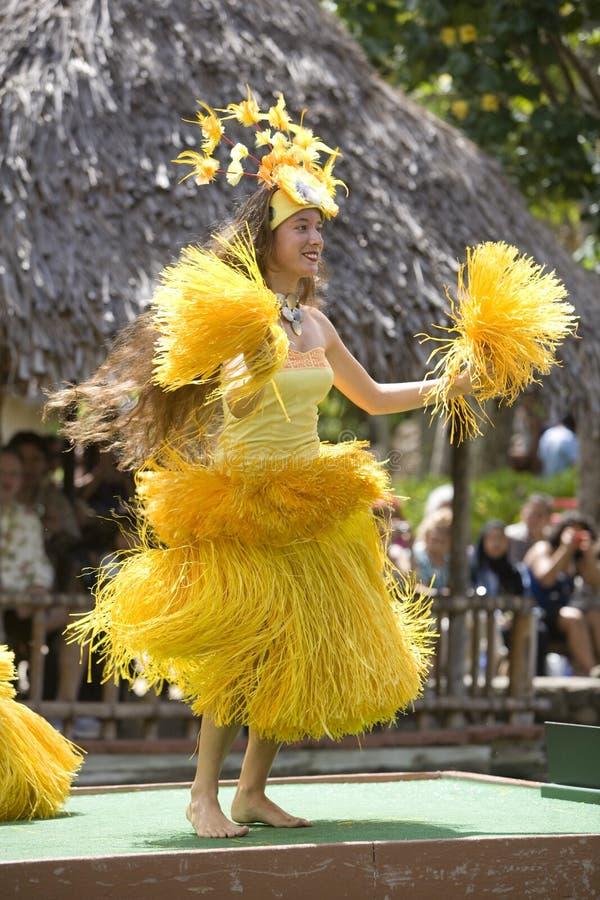 tahitian 1736个的舞蹈演员 库存照片