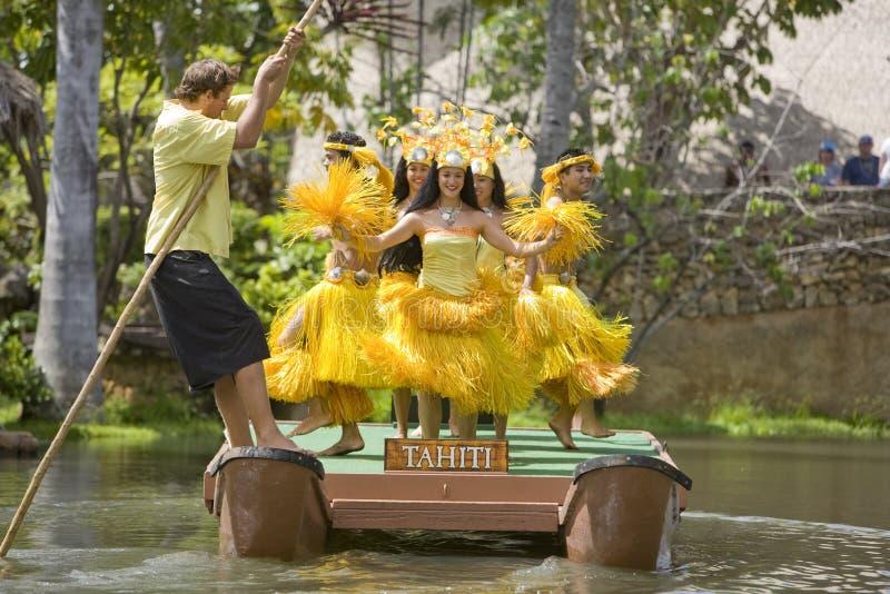 tahitian 1744个的舞蹈演员 免版税库存照片