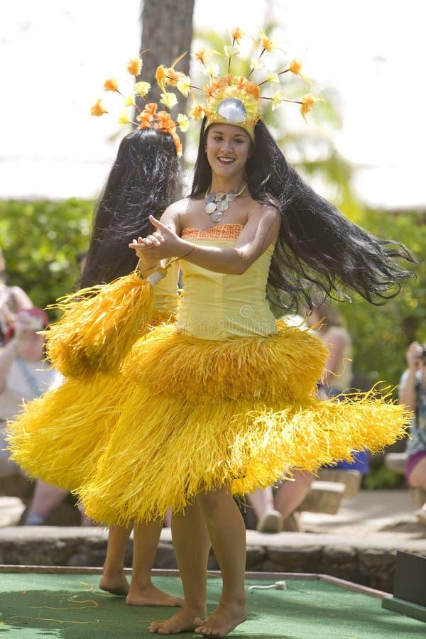 tahitian 1766个的舞蹈演员 免版税库存照片