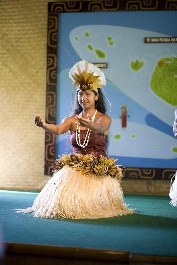 tahitian dansare royaltyfria bilder