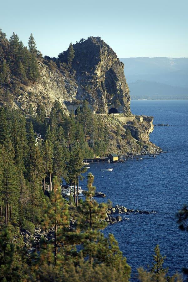 Tahoe湖东部岸 免版税图库摄影