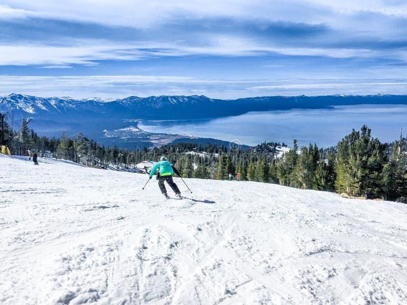 Tahoe湖冬天 免版税库存图片