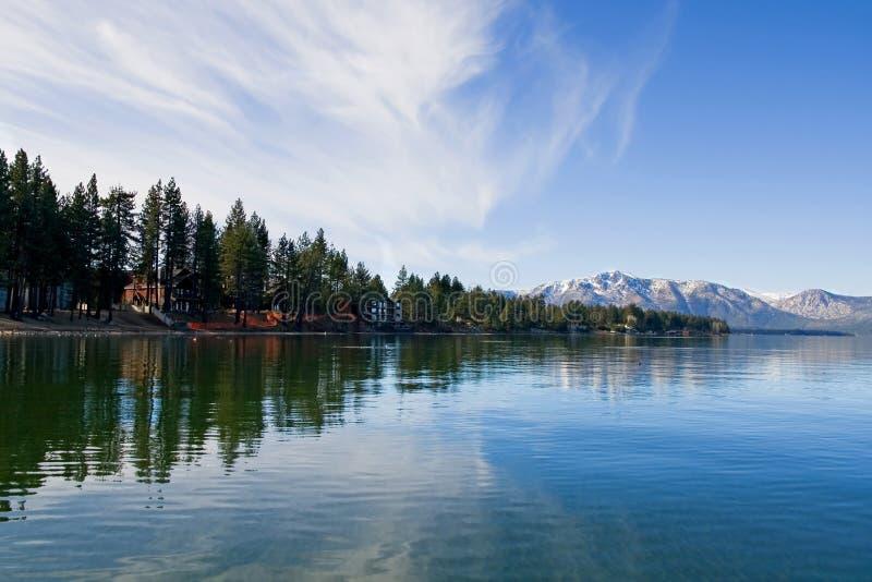Tahoe湖冬天 库存照片