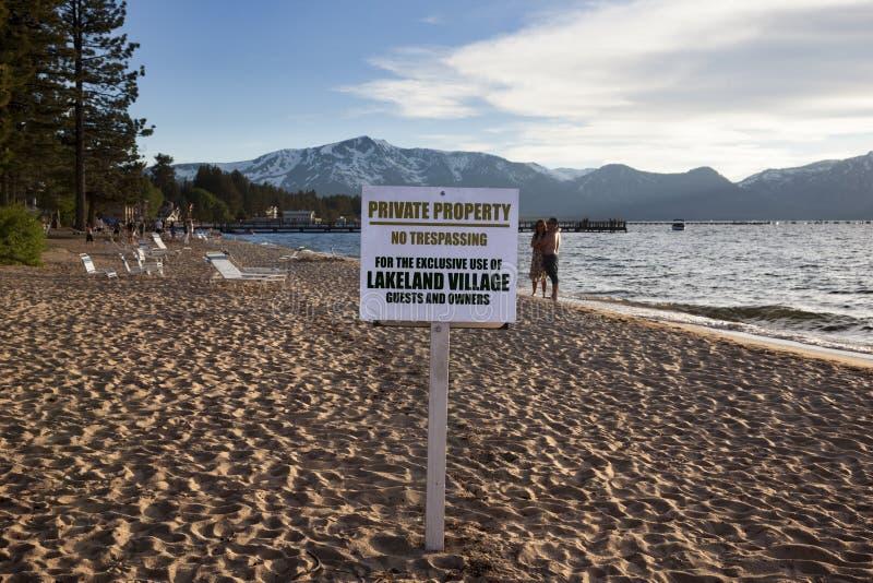 Tahoe湖在加利福尼亚 图库摄影