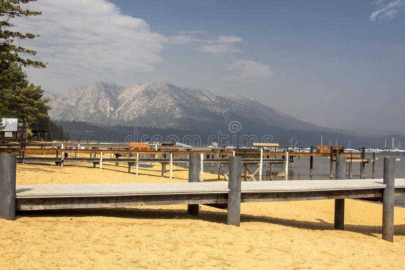 Tahoe码头 免版税库存照片