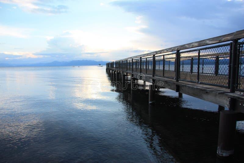 Tahoe船坞 库存图片