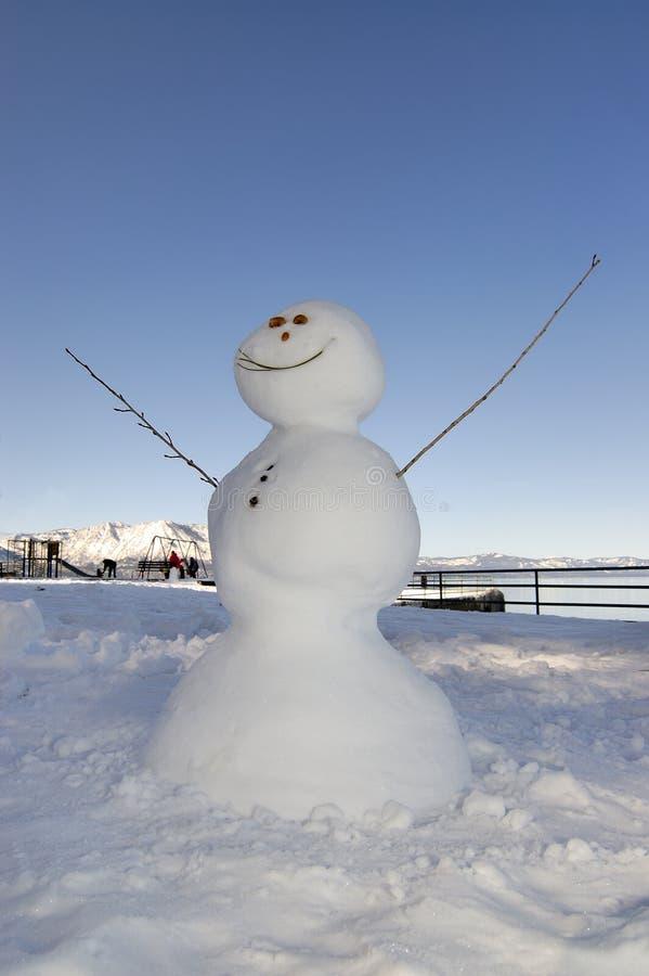 tahoe снеговика озера стоковое фото rf