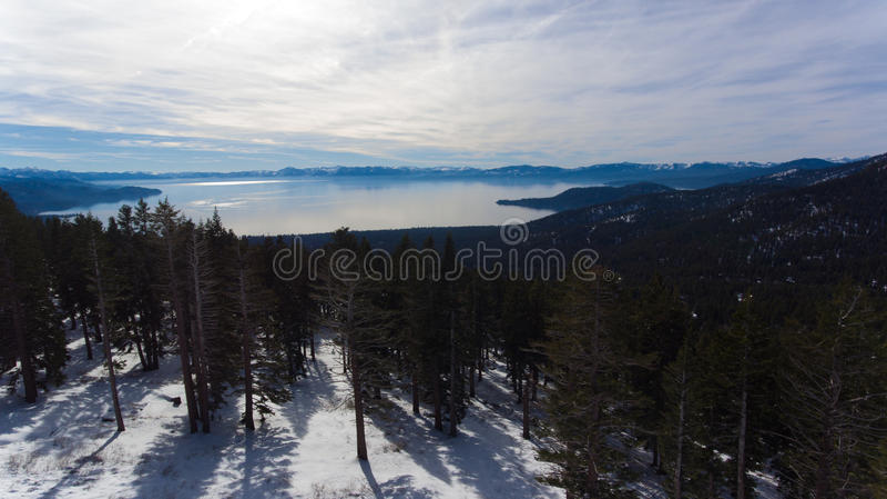 Tahoe从上面 免版税图库摄影