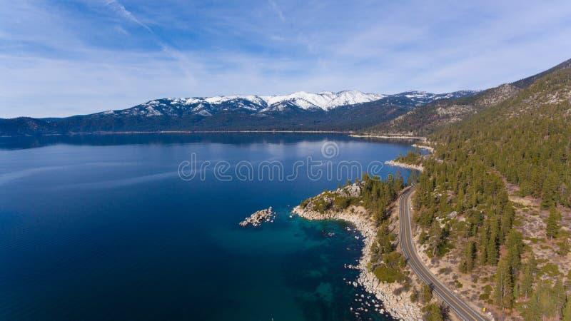 Tahoe blått royaltyfria bilder