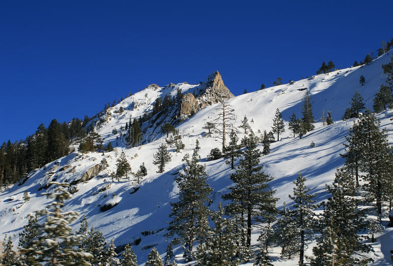 Tahoe en invierno fotografía de archivo