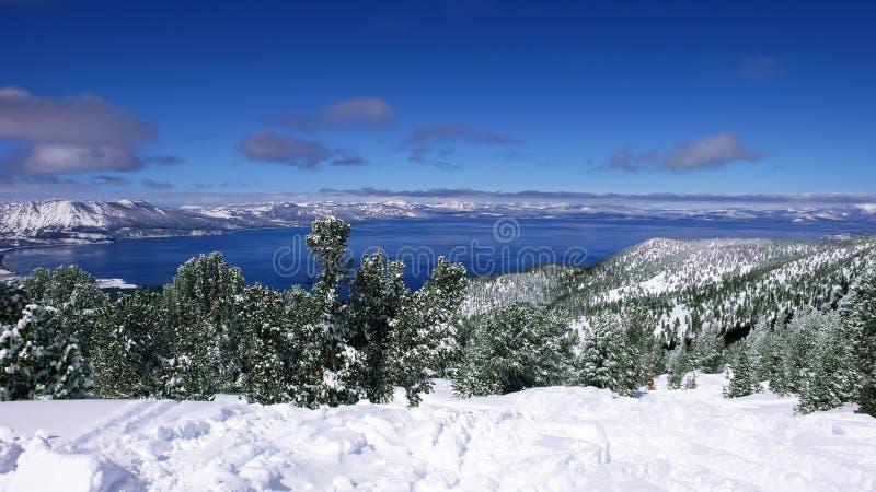 tahoe jeziorna zima obraz royalty free
