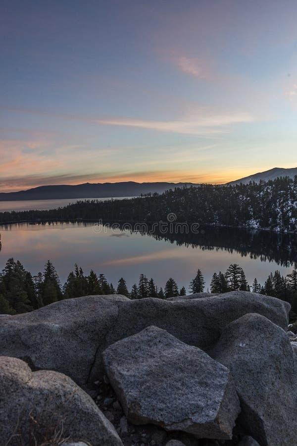 Tahoe-Sonnenaufgang stockbilder