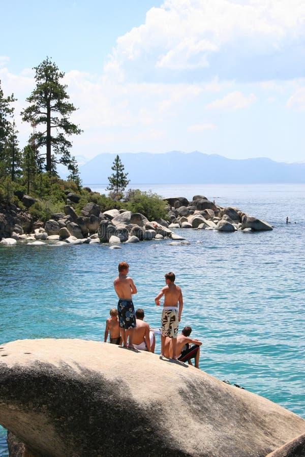 Tahoe Swimming Cove stock photos