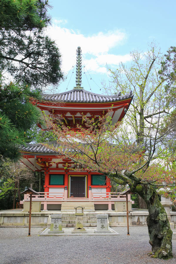 The Tahoto pagoda of the Chion-in Temple in Kyoto, Japan stock image