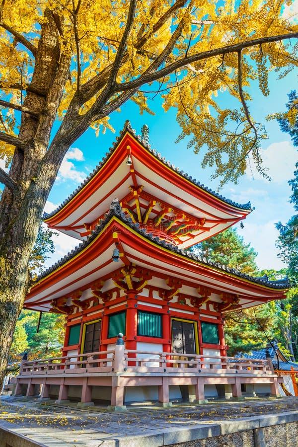 Tahoto Papgoda in chion-in complex in Kyoto stock afbeeldingen