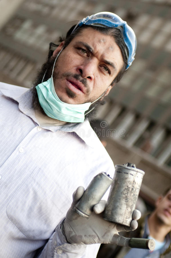 Download Tahrir protester editorial photography. Image of people - 23879632