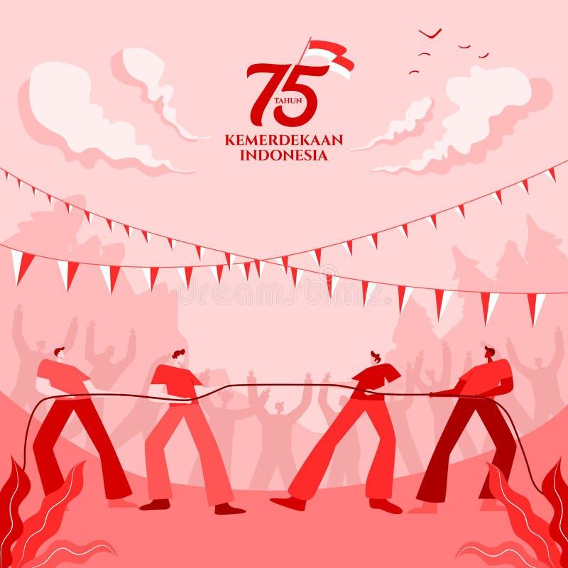 tahun kemerdekaan indonesia translates to years indonesia independence day indonesia independence day greeting card 190632598