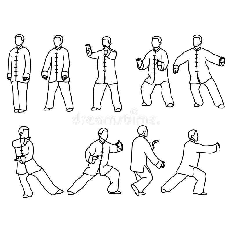 Tai池氏的九个形式 男服繁体中文布料vecto 皇族释放例证