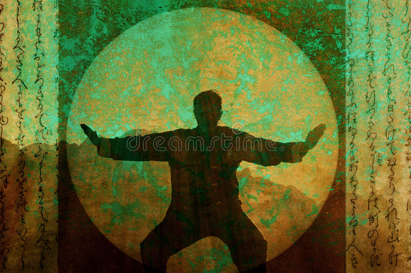 Tai Chi Meditation stock illustration