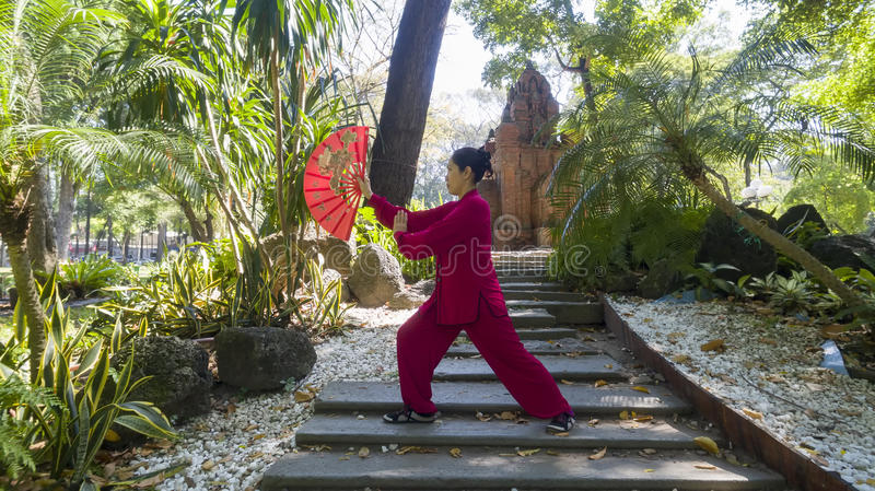 Tai Chi practice royalty free stock images