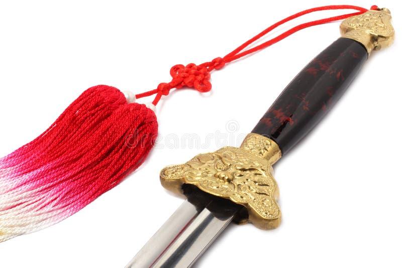 Tai Chi sword stock images