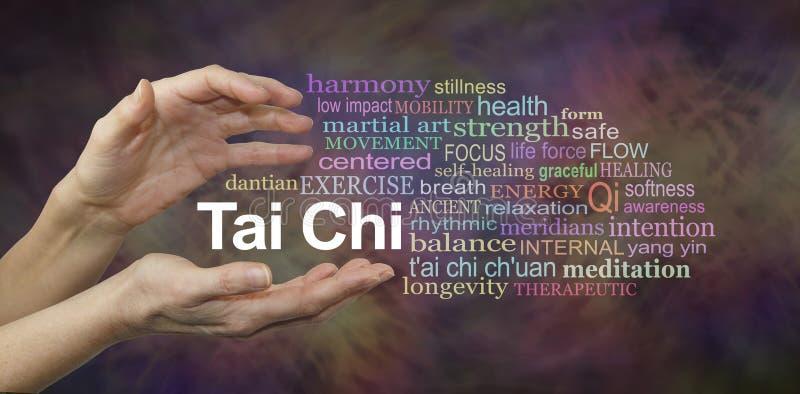 Tai Chi Word Cloud royalty free stock image
