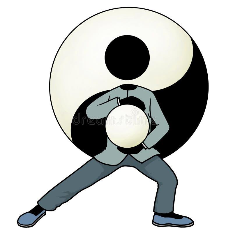 Tai chi yin en yang vector illustratie