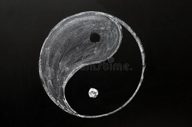 Tai Chi of yinyang symbool royalty-vrije stock afbeeldingen