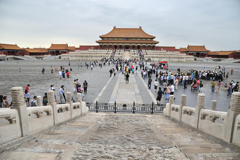 tai he dian,The Forbidden City (Gu Gong) stock photo