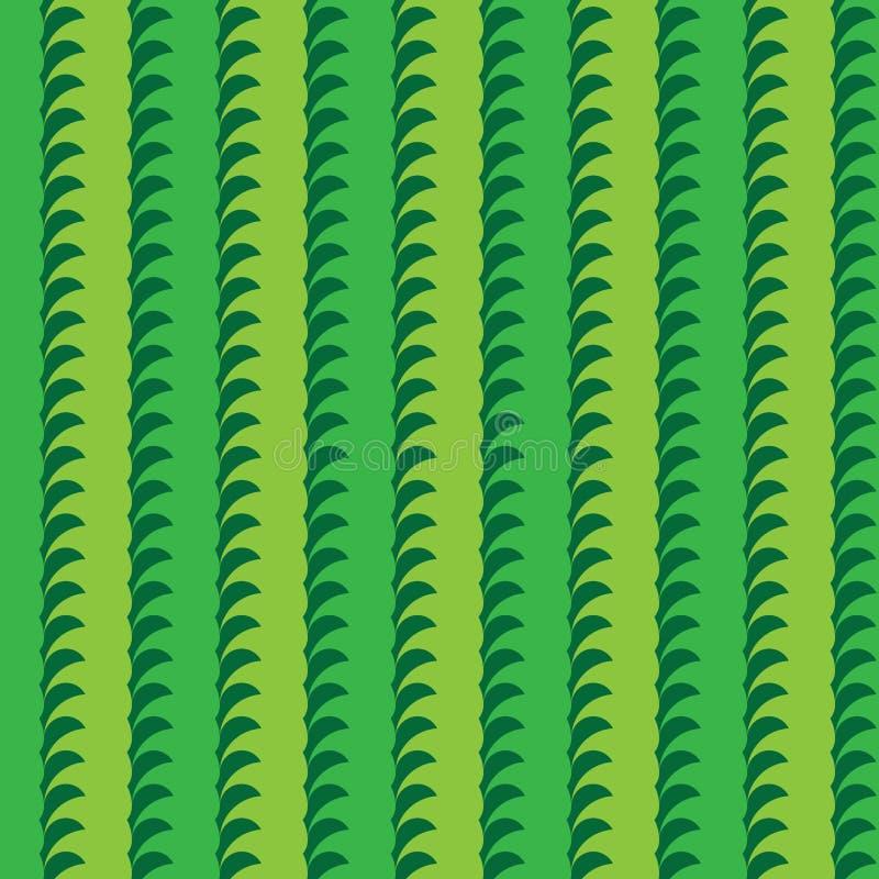Tai Ji plant natural vertical seamless pattern stock illustration
