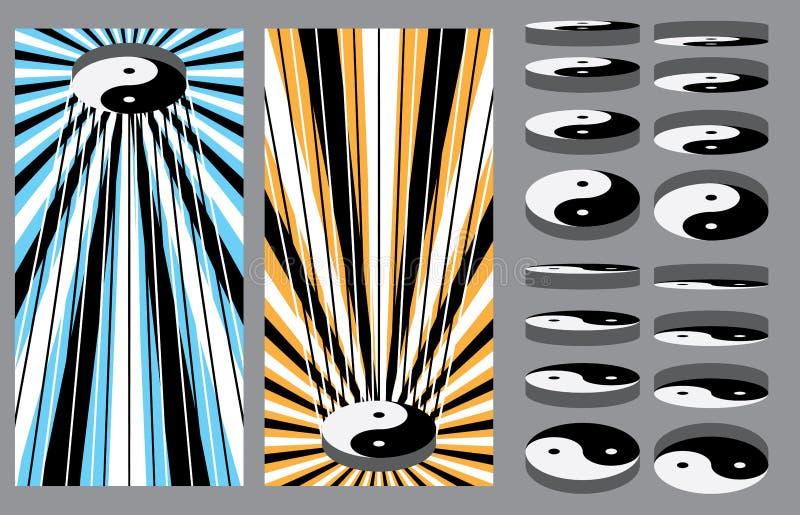 Tai Ji plattformuppsättning vektor illustrationer