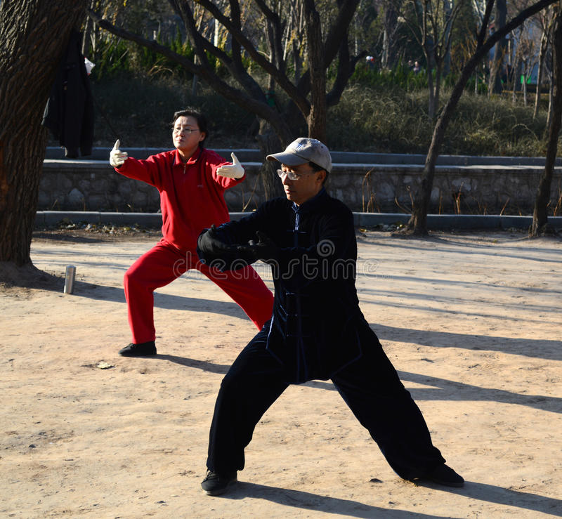 Chinese Taiji Quan royalty free stock images