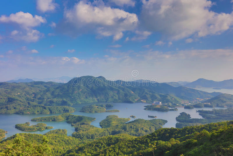 Tai Lam Chung Reservoir Hong Kong royaltyfri foto