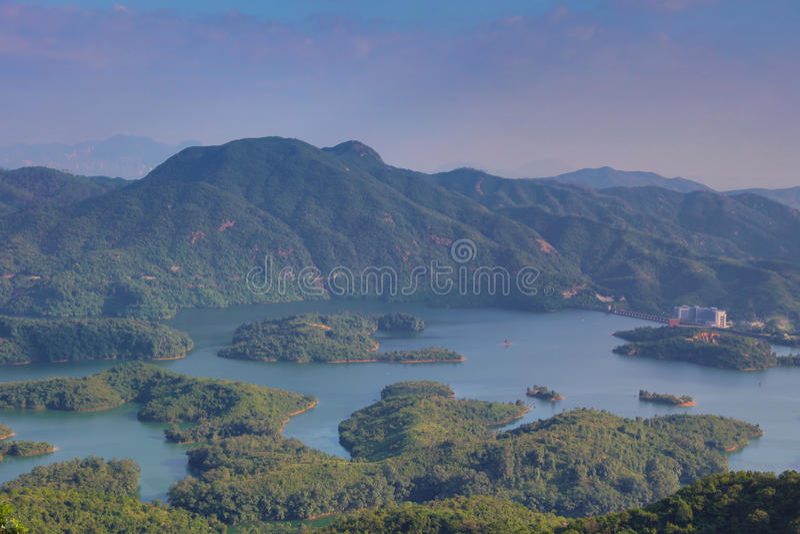 Tai Lam Chung Reservoir Hong Kong royaltyfria foton