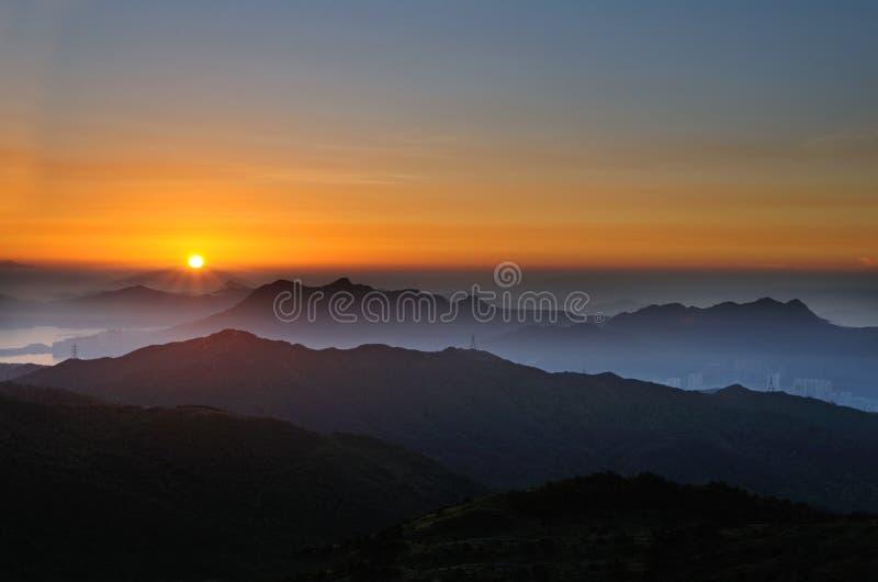 Tai Mo-zonsopgang stock afbeelding
