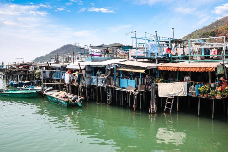 Tai O de stelthuizen van het visserijdorp in Hong Kong
