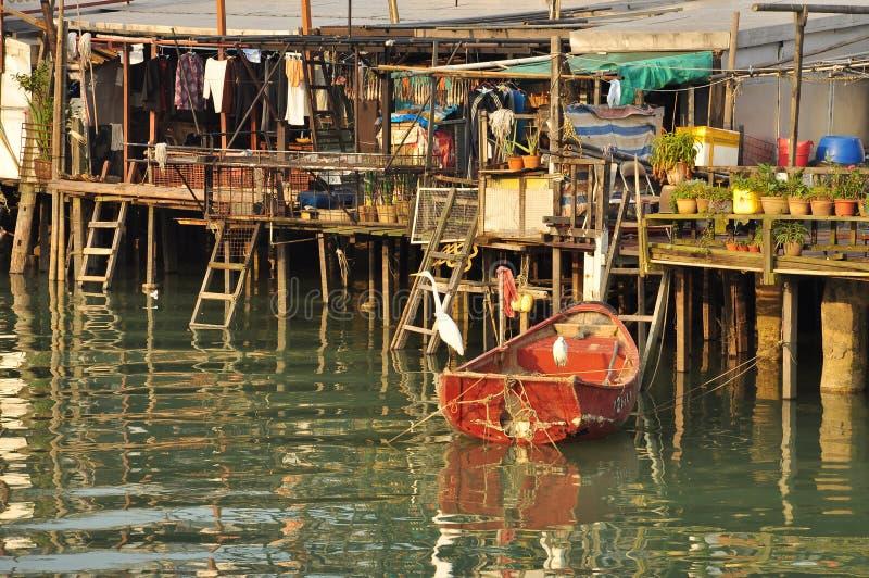 Tai O fishing village, Lantau island Hong Kong. The fishing town of Tai O, on the Lantau island, Hong Kong, China. Stilt houses royalty free stock photography