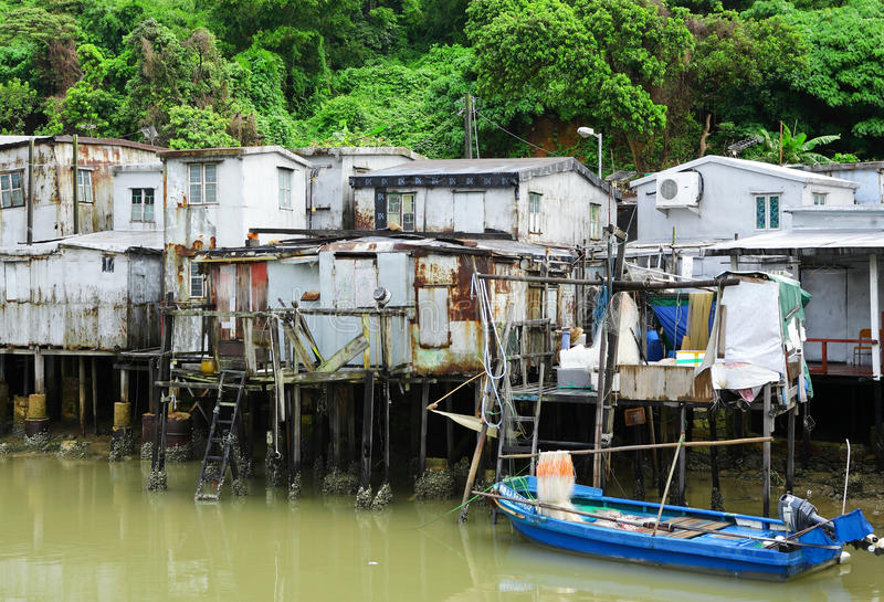 Tai O fishing village stock photography