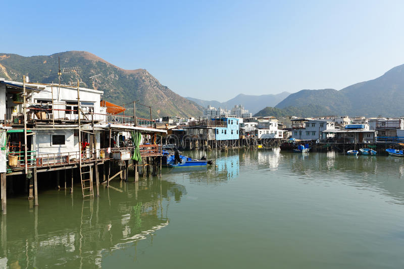 Tai O fishing village stock photo