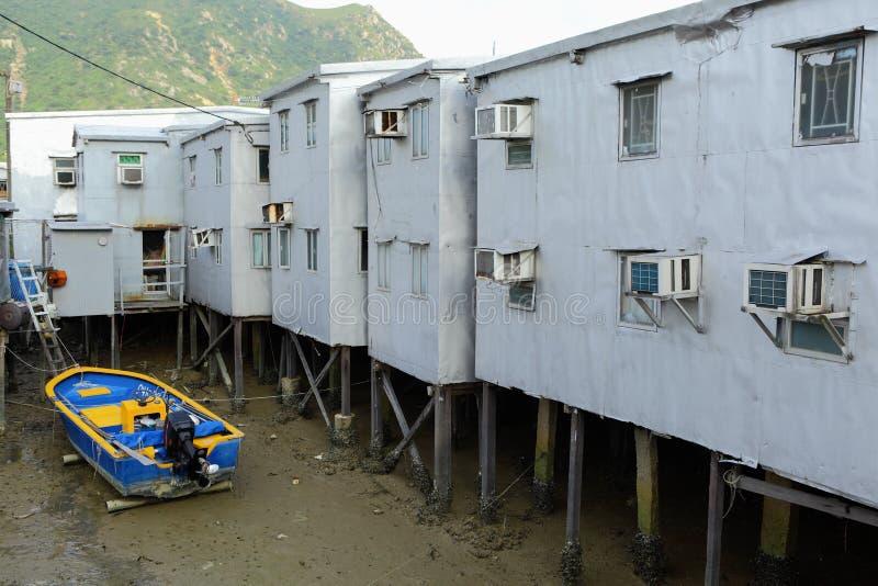 Tai O fishing village. In Hong Kong stock images