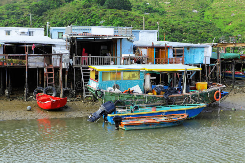 Tai O fishing village royalty free stock photo