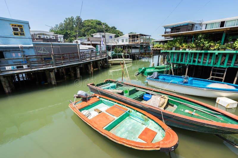 Tai O Fishing Village in Hong Kong royalty free stock images