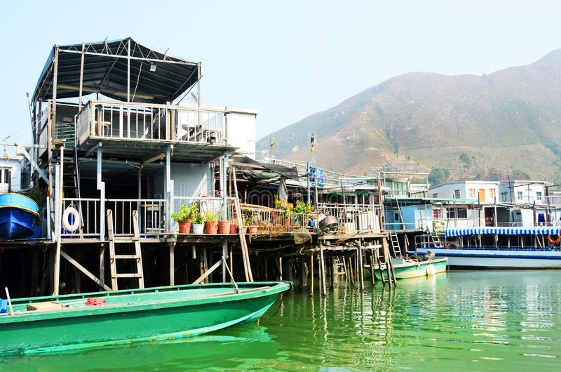 Tai O Fishing Village, Houses built on stilts. Hong Kong. China stock images