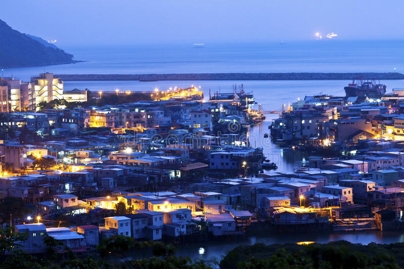 Download Tai O Fishing Village At Night In Hong Kong Stock Photo - Image: 24624876