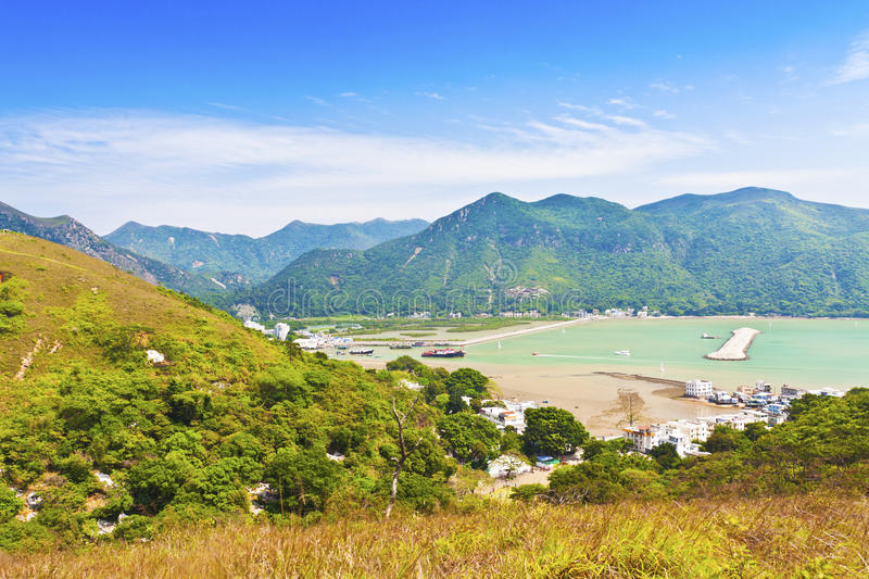 Download Tai O Landscape From Mountains In Hong Kong Stock Image - Image: 24462439