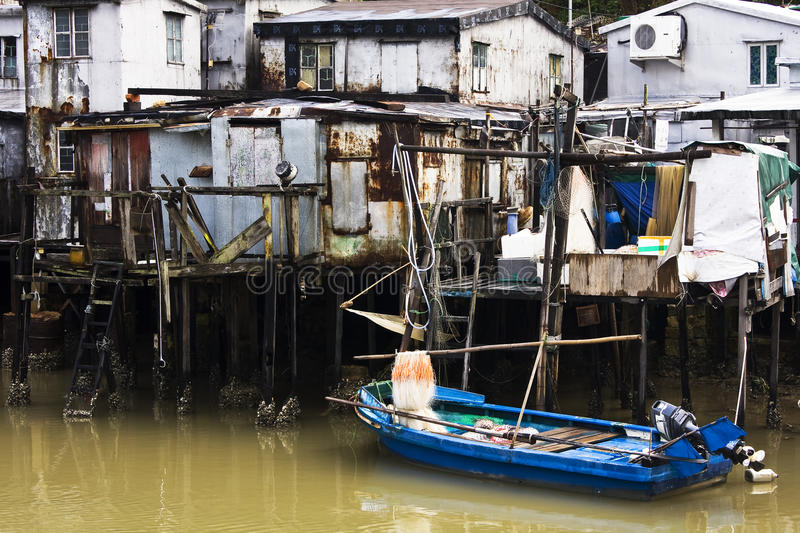 Tai O, A small fishing village in Hong Kong stock photo