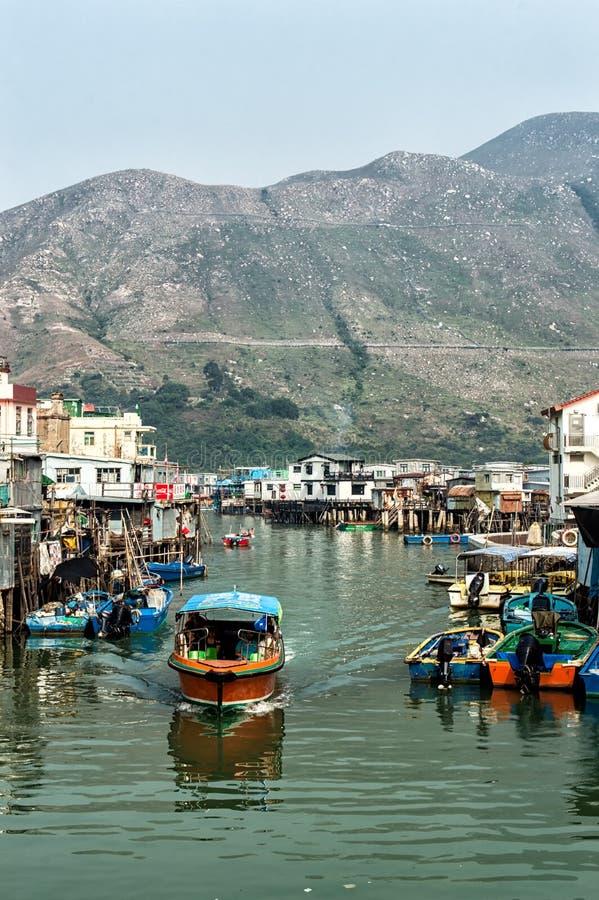 Tai O wioski rybackiej stilt domy w Hong Kong obrazy stock