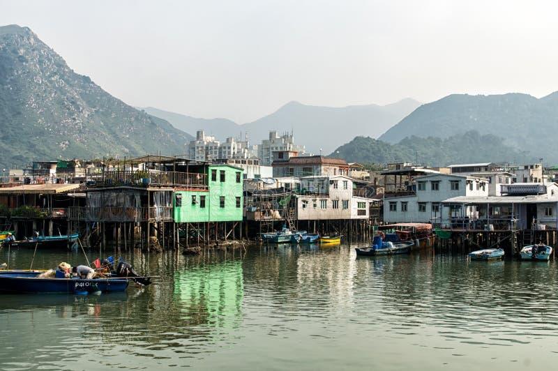 Tai O wioski rybackiej stilt domy w Hong Kong zdjęcia royalty free